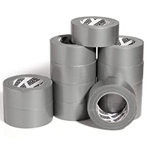 Multi Purpose Silver Duct Tape - 12 Roll Bulk Value Pack - 30 Yards x 2 Inches Per Roll in a Case - Tear by Hand, Waterproof Utility Tape for Emergency Repairs and Home Use by Lockport
