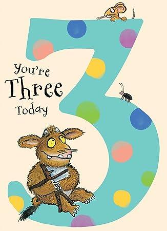 Danilo Gruffalo 3rd Birthday card