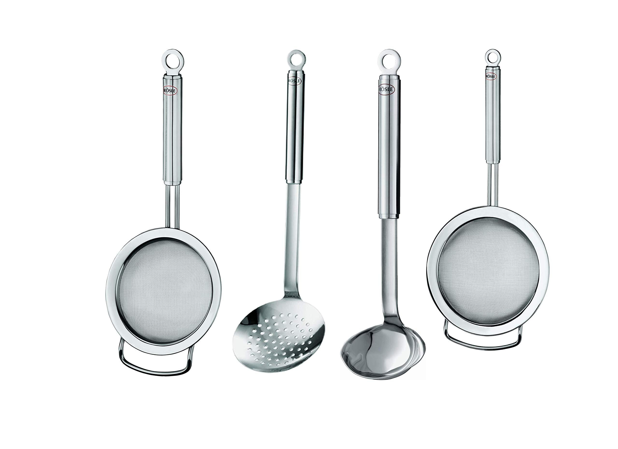 Details about Rösle Stainless Steel Kitchen Utensils Set Tea Strainer  Skimmer Sauce Ladle