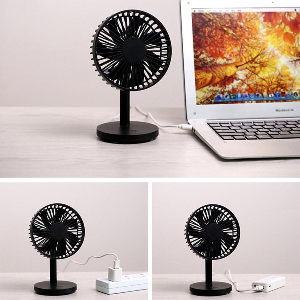USB Ultra Quiet Table Fan Adjustable Desk Fan Stronger Airflow Fan USB Fan Office Black Portable Fan Perfect for Indoor Outdoor Travel