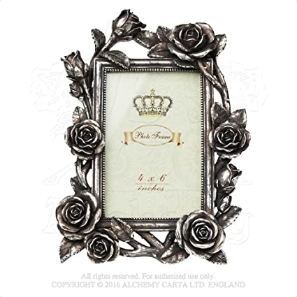 sculptural picture frame holder rose and vine victorian garden 6 x 4 image antique