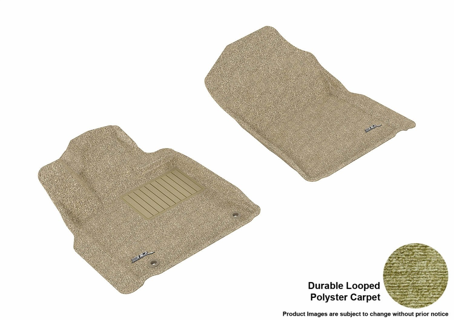 3D MAXpider Front Row Custom Fit Floor Mat for Select Toyota Tundra Models L1TY14912201 Classic Carpet Gray