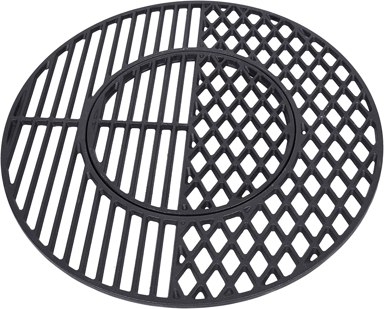 GASPRO 21.5 Inch Grill Grates for Weber 22.5 Inch Kettle, Performer & Charcoal Gas Grills, Durable Cast Iron, Part #8835