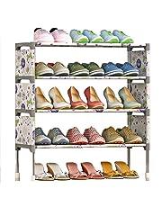 Estantería Multiusos, Zapatero de 5 Niveles para 15 Pares de Zapatos 58cm*26cm*63cm,Gray