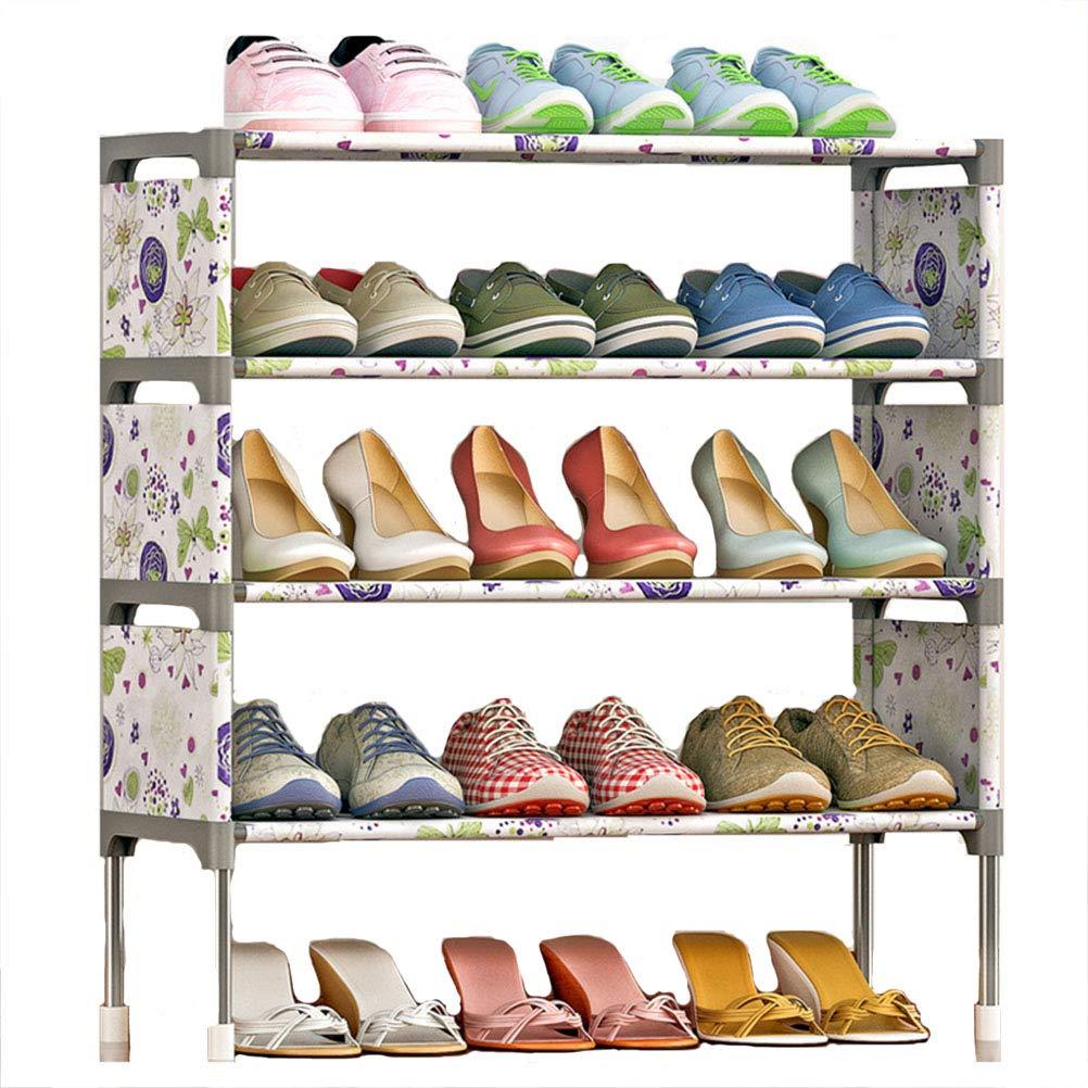 Estanterí a Multiusos, Zapatero de 5 Niveles para 15 Pares de Zapatos 58cm*26cm*63cm,Gray Wanforjewellery