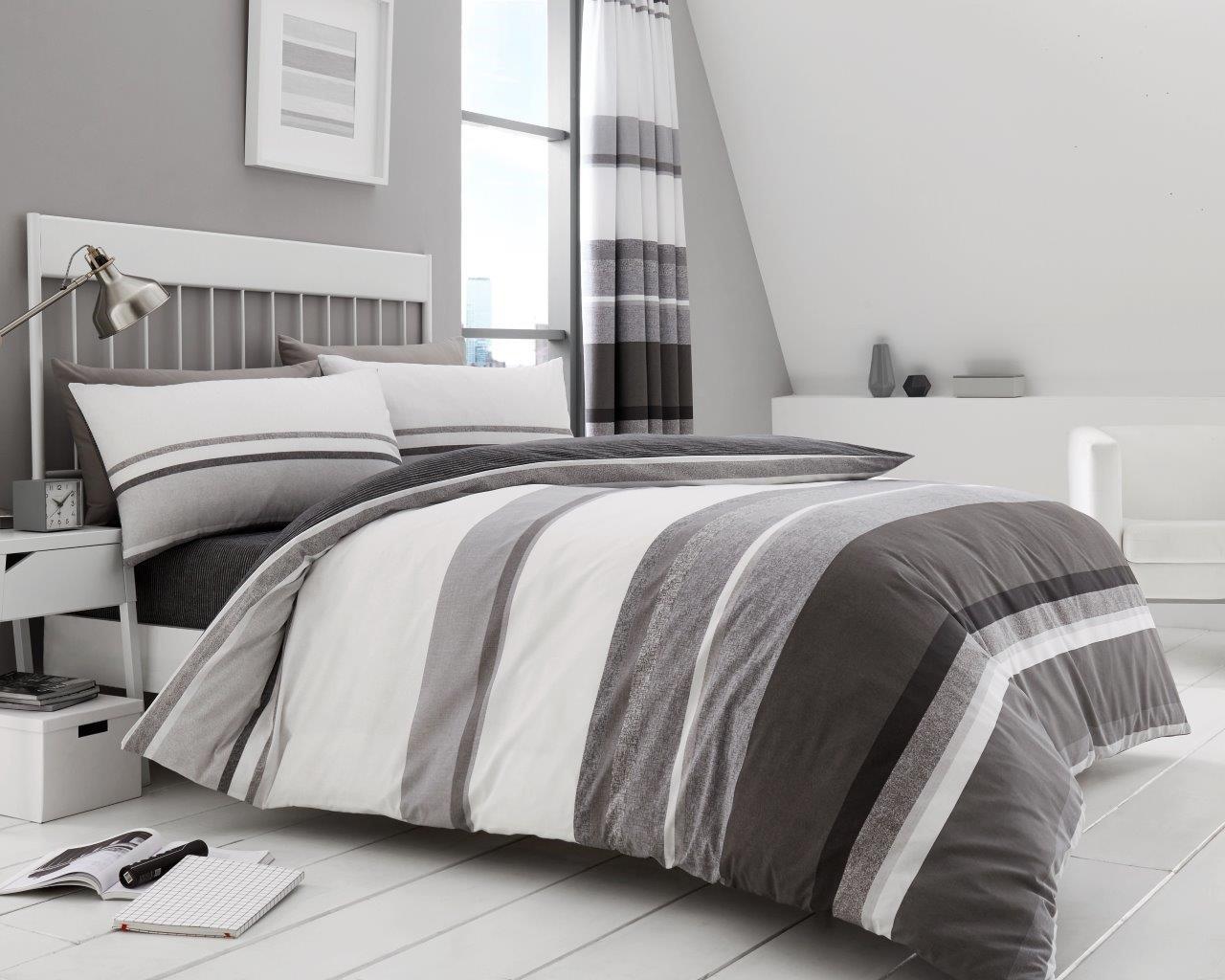 Hudson Duvet Cover Set Quilt or Complete Size Double King Super Single Bedding