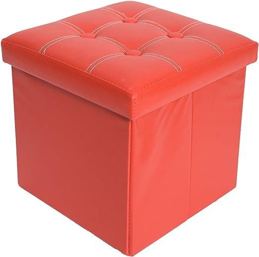 Mobili Rebecca® Puff Arcón Banqueta Asiento Caja Decorativas Puf Plegable para almacenar Cosas 38 x 38 x 38 cm (Cod. RE4916): Amazon.es: Juguetes y juegos