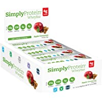 SimplyProtein Whey Bar, Apple Cinnamon, Gluten-Free - (1.4 oz, Pack of 12)