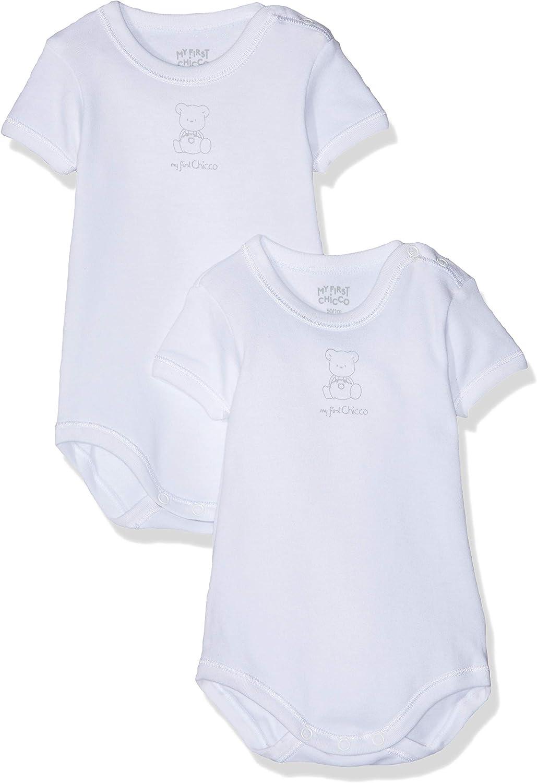 Bimba 0-24 Chicco T-Shirt Manica Corta T-Shirt Bianco 033 Taglia Produttore:074 Bianco 74