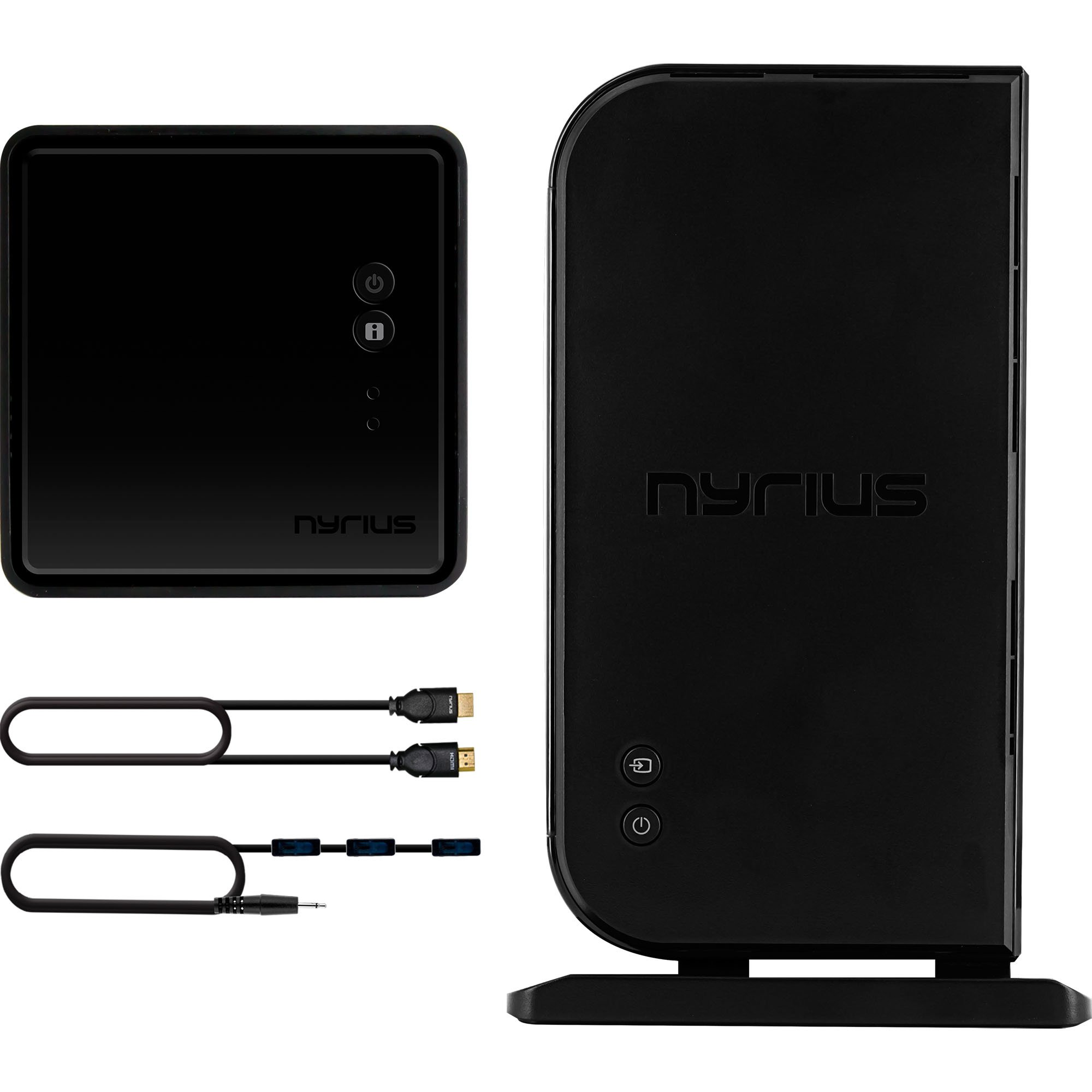 Nyrius ARIES Home HDMI Digital Wireless Transmitter & Receiver for HD 1080p Video Streaming with IR Remote Extender (NAVS500) - Includes HDMI to Micro HDMI F/M Adapter
