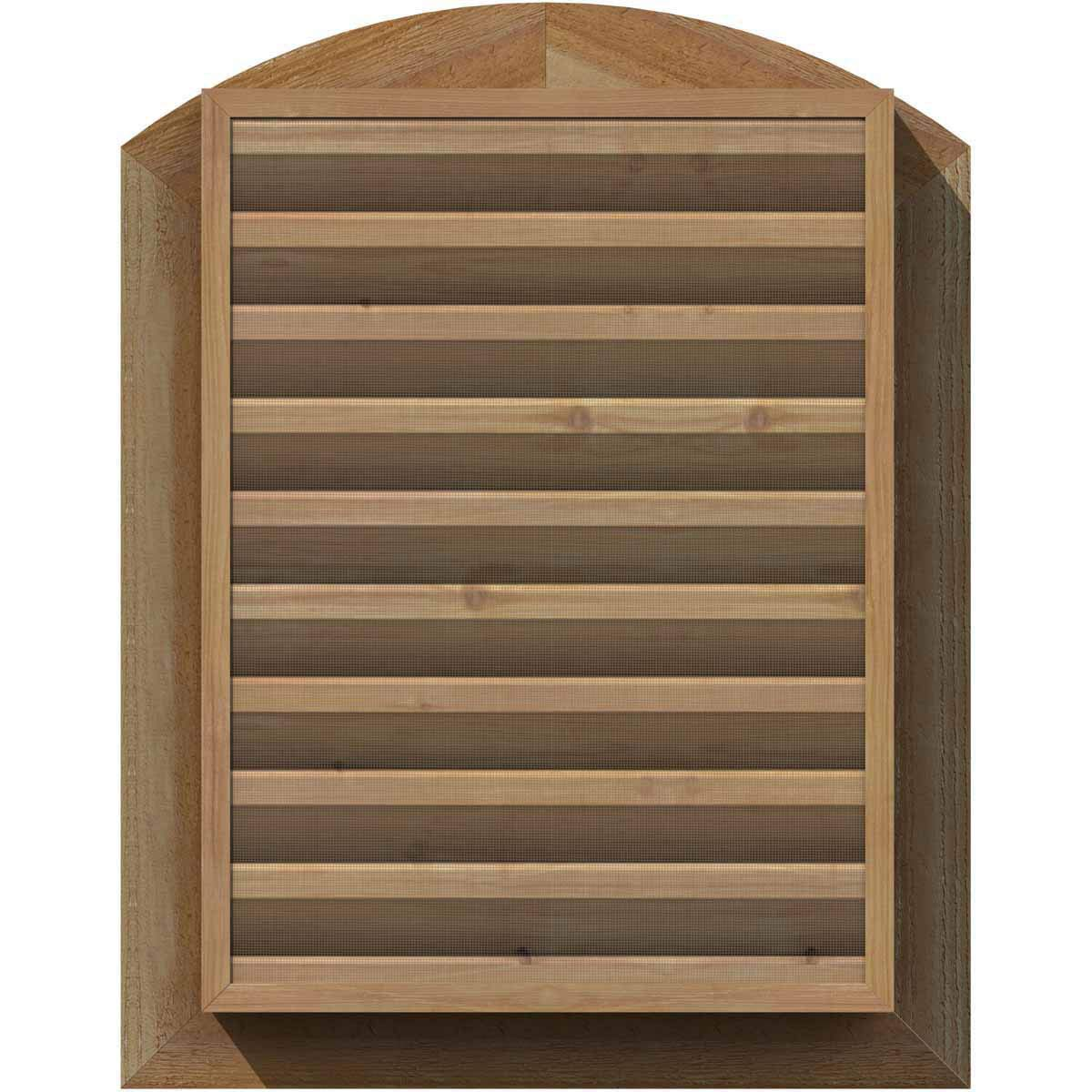 Ekena Millwork GVWOC18X1801SFPWR Primed Functional and Smooth Western Red Cedar 18 Width x 18 Height Octagonal Gable Vent with 1 x 4 Flat Trim Frame