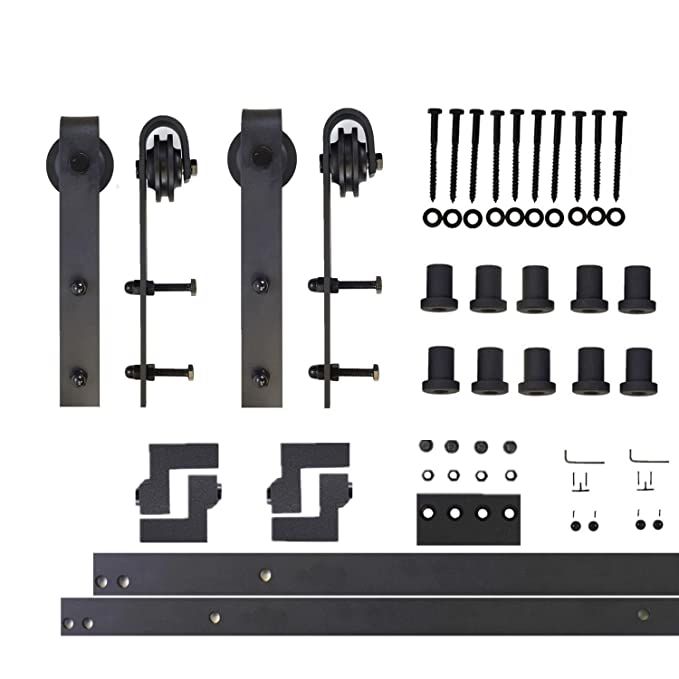 Amazon.com: Homacer Sliding Barn Door Hardware Standard ...