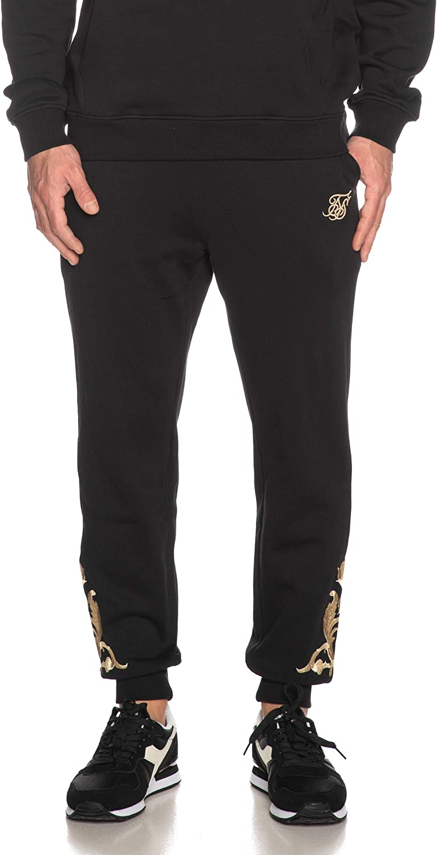 Sik Silk - Pantalón de chándal para Hombre, Color Negro: Amazon.es ...