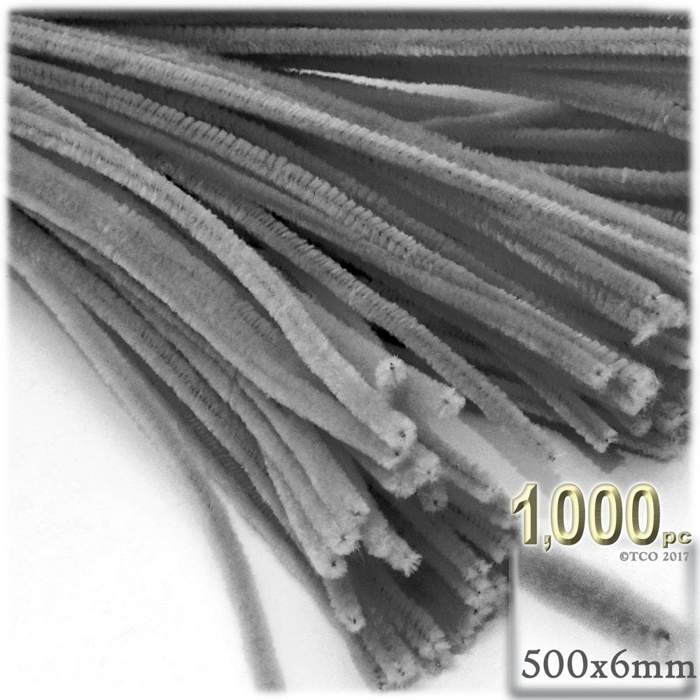 The Crafts Outlet Chenille Stems, Pipe Cleaner, 20-inch (50-cm), 1000-pc, Grey by The Crafts Outlet (Image #1)