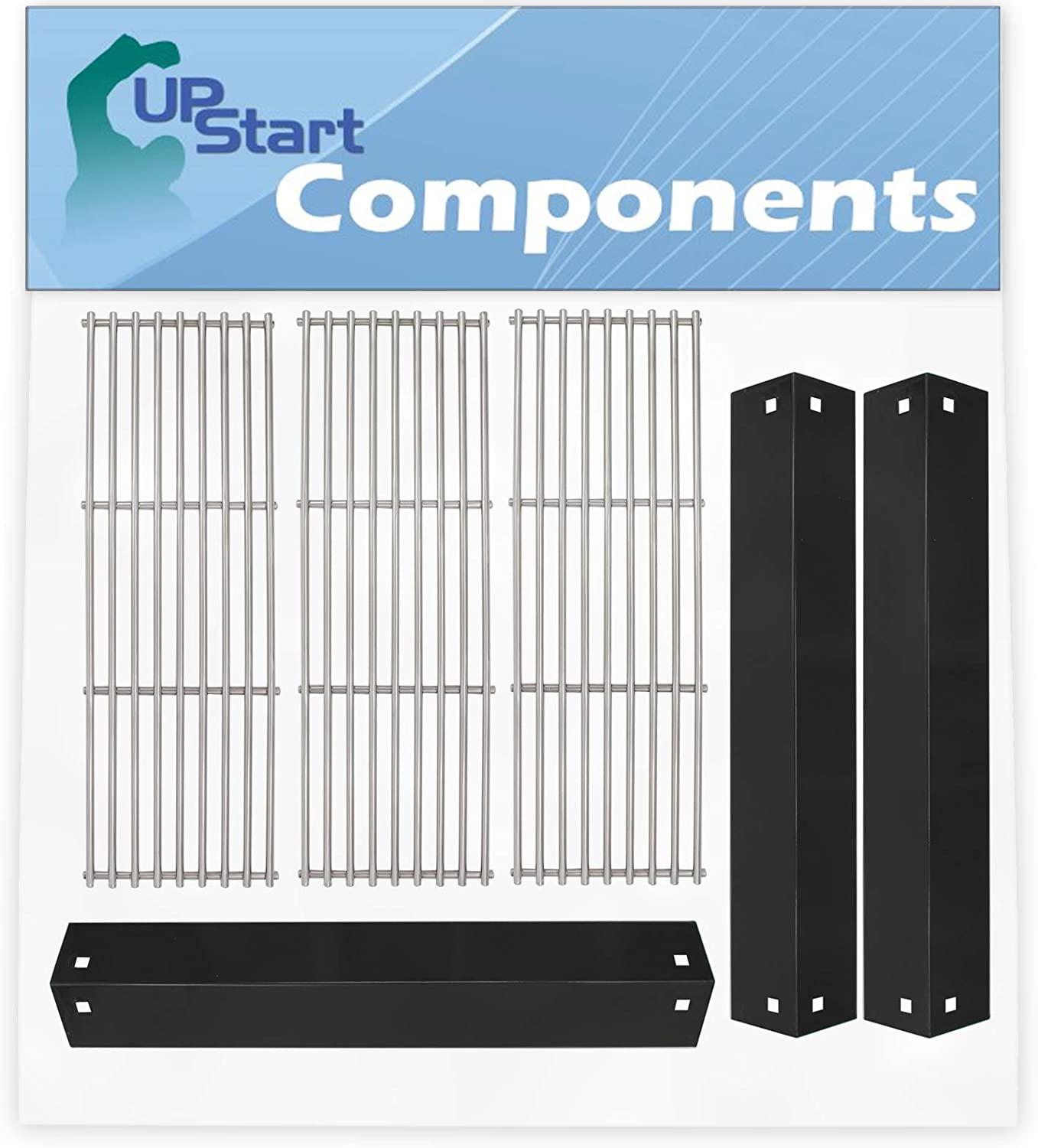 Bbq Grill Cooking Grates & Heat Shield Plate Tent Replacement Parts For Chargriller Barbecues - Compatible Bbq Stainless Steel Grid & Porcelain Steel Flame Tamer, Guard, Deflector, Flavorizer Bar