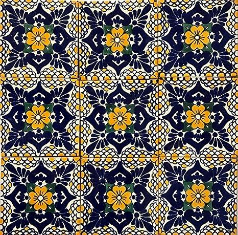 Amazon.com: 2 x 2 de Talavera azulejos arcilla en cuerpo ...