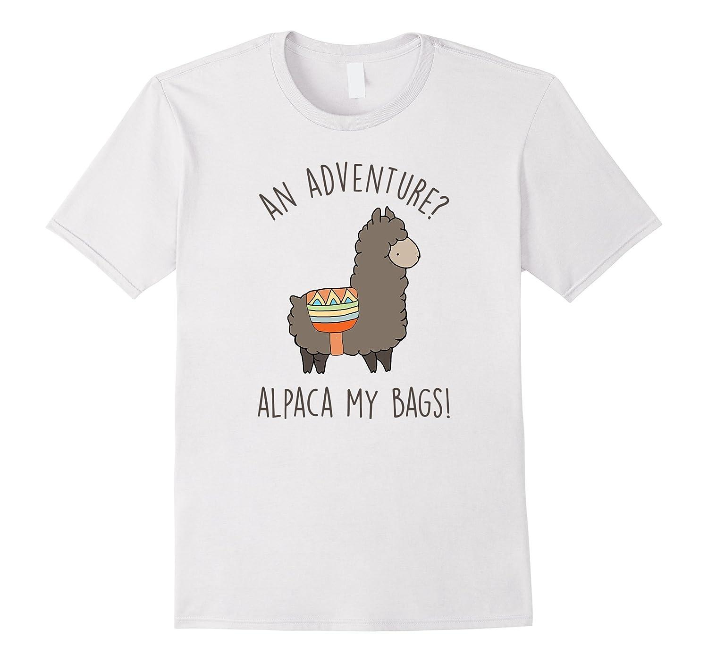 an advanture alpaca my bag t shirt funny alpaca saying pl. Black Bedroom Furniture Sets. Home Design Ideas
