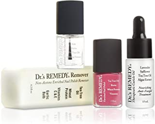 product image for Dr.'s REMEDY, Anti-Fungal START To FINISH Kit With TOTAL Two-In-One, REMEDY Remover, Therapeutic Cuticle Oil and RELAXING Rose