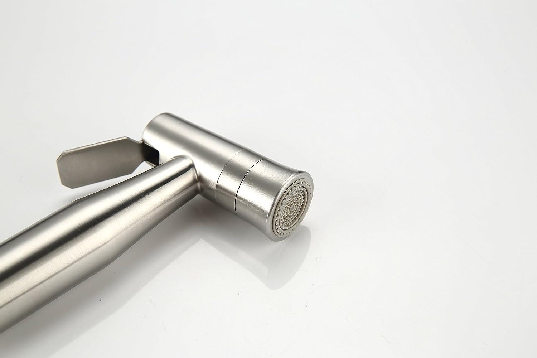 Premium Stainless Steel Cloth Diaper Sprayer Handheld Bidet Sprayer Kits Shattaf Sprayer for Personal Hygiene Care Bottom Wiper Shower Attachment Hand Bidet Sprayer for Beday Toilet