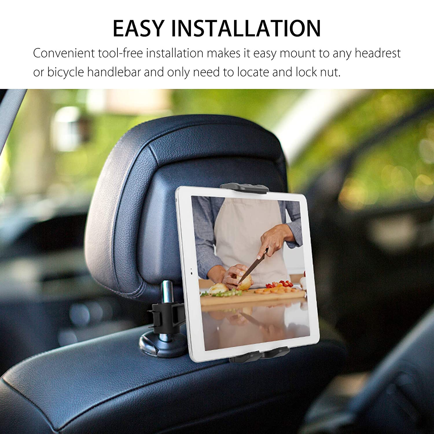 360° Car Back Seat Headrest Mount Holder Stand For 4-11 inch Tablet//GPS//IPAD