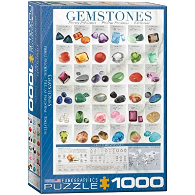 EuroGraphics Gemstones Puzzle (1000-Piece): Toys & Games