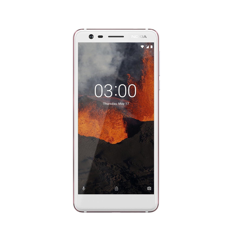 Nokia Nokia 3.1–Versión 2018(13MP Amplio cámara, LTE, Android 8.0, Carcasa de Aluminio de Alta Calidad, Dual SIM) Color Blanco/Hierro