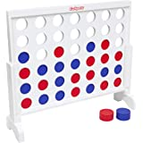 GoSports Giant Wooden 4 in a Row Game | Choose Between Classic White or Dark Stain | 3 Foot Width - Jumbo 4 Connect…