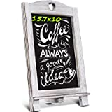 Homemaxs 15.7'' X 10'' Chalkboard Signs, Rustic Magnetic Tabletop Chalk Board with Frame and Hanging String, Easel Countertop
