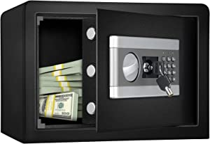 Diosmio Fireproof and Waterproof Safe Cabinet Security Box, Digital Combination Lock Safe with Keypad LED Indicator, for Pistol Cash Jewelry Important Documents Home Office(0.8Cub)