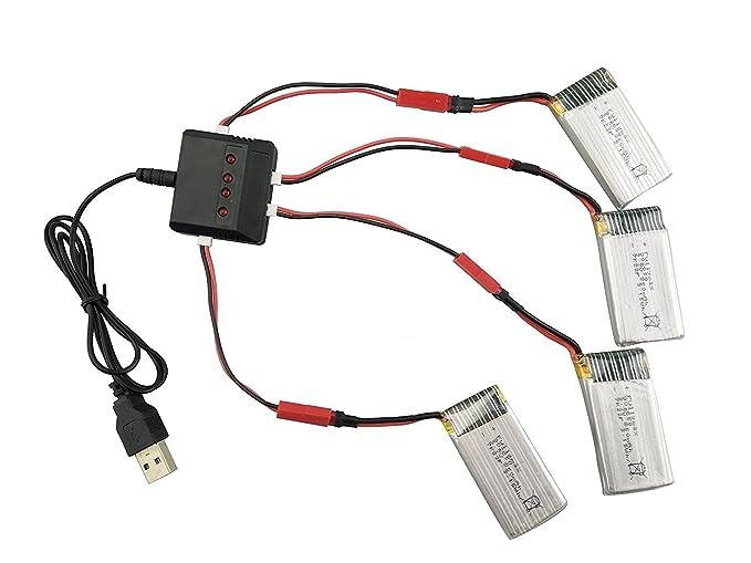 YUNIQUE Espagne ® 4 Piezas Repuestos de Batería de Litio 3.7V ...