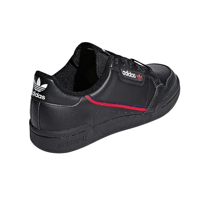 Adidas Continental 80 Blancas, Zapatillas Deportivas para Mujer. Sneaker. Nostalgia Vintage (38.5 EU, BlackScarletVintage)