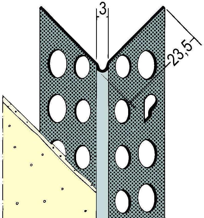 Aluminium Kantenprofil f/ür den Trockenbau Putzst/ärke 1 mm Bund = 50 St/äbe PROTEKTOR 9079 2,50 m