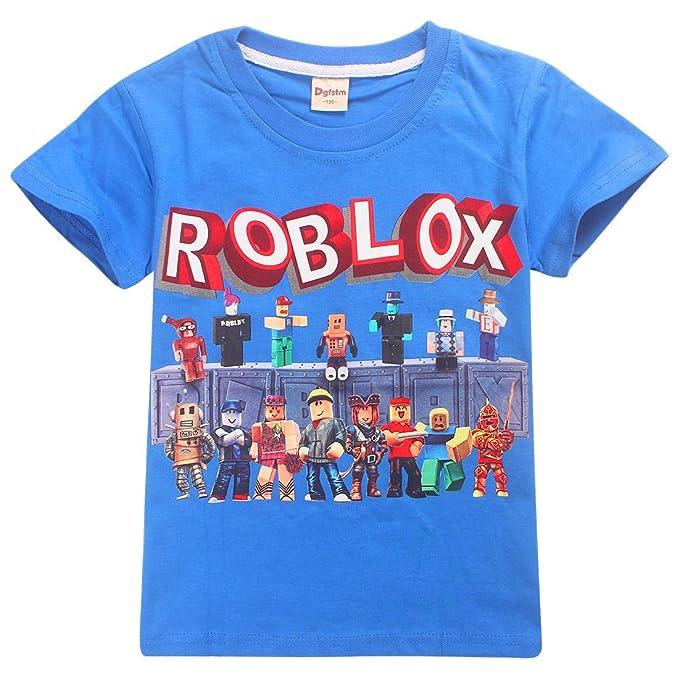Dgfstm Playera Infantil Roblox para Juegos Familiares, Camiseta de Equipo de Juegos de algodón Transpirable para niñas, niños, Adolescentes