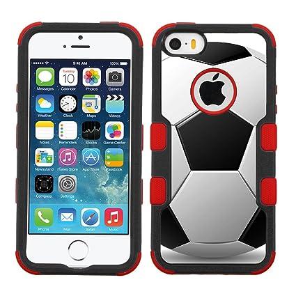 7c82cfa5d4fb6c Amazon.com  One Tough Shield ® 3-Layer Hybrid Case (Red Black) for ...