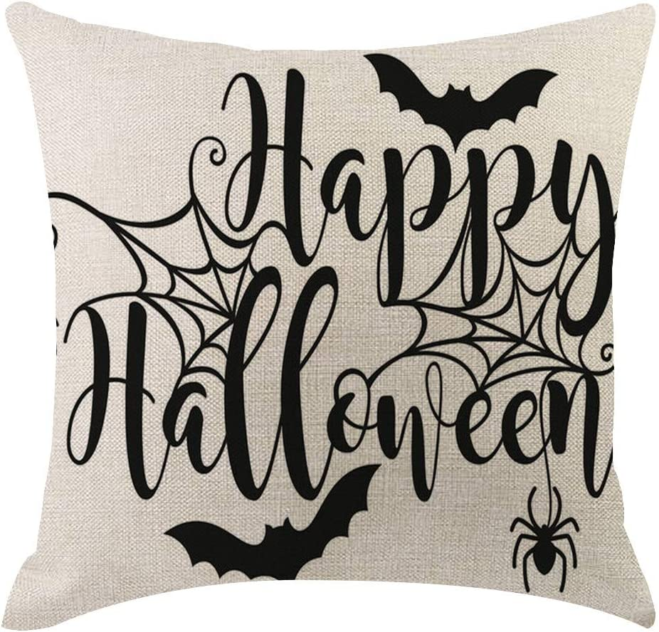 ODJOY-Fan Federa di Foto di Halloween Throw Pillow Cover Dipinto A Mano Marine Stile Cuscino Decorativo Caso Cuscino Protezione per La Casa Letto Sedia Cuscini Arredo Casa
