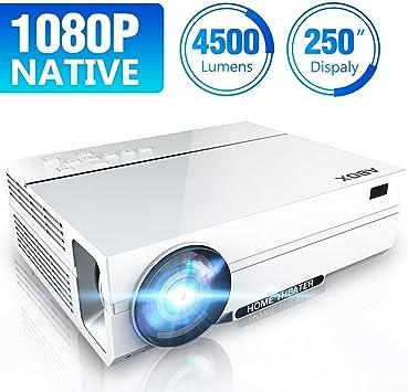 Proyector Full HD, ABox A6 videoproyector de 4500 lúmenes ...