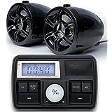 "GoHawk TT3 3"" Waterproof Bluetooth Motorcycle Stereo Speakers 7/8-1 in. Handlebar Mount MP3 Music Player Sound Audio Amplifie"