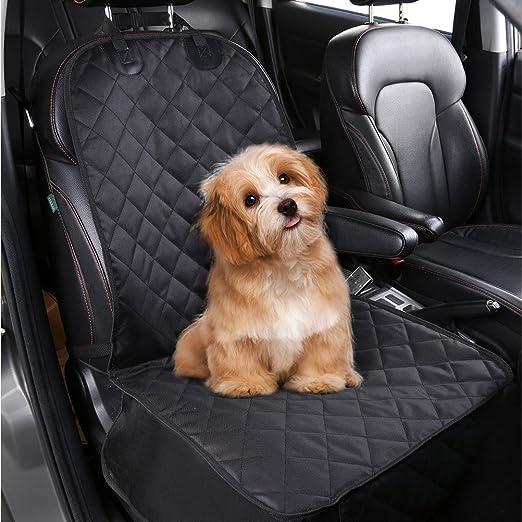 Femor Hunde Autositz Auto Sitzabdeckung Praktische Auto Hundedecke Autoschutzdecke 100x52cm Ideal Für Den Transport Von Tieren Schwarz Vordersitz Haustier