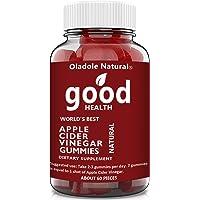 Apple Cider Vinegar Gummy Vitamins by Oladole Natural - Immunity & Detox, with The Mother, Gluten-Free, Vegan, Vitamin…