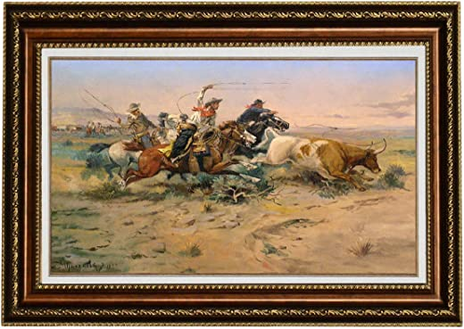 Eliteart-Charles Marion Russell Herd Quitters