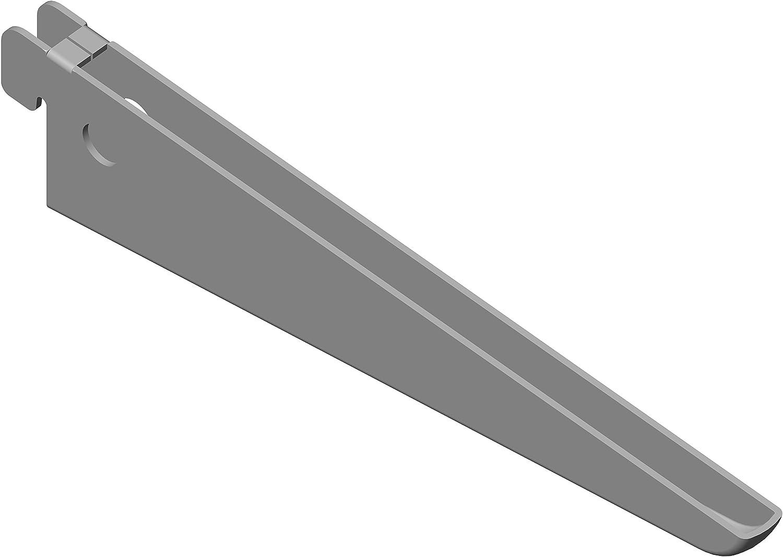 longueur: 100 cm Rail mural /à 2 rang/ées pour /équerres Toolerando Cr/émaill/ère d/étag/ère double perforation blanc