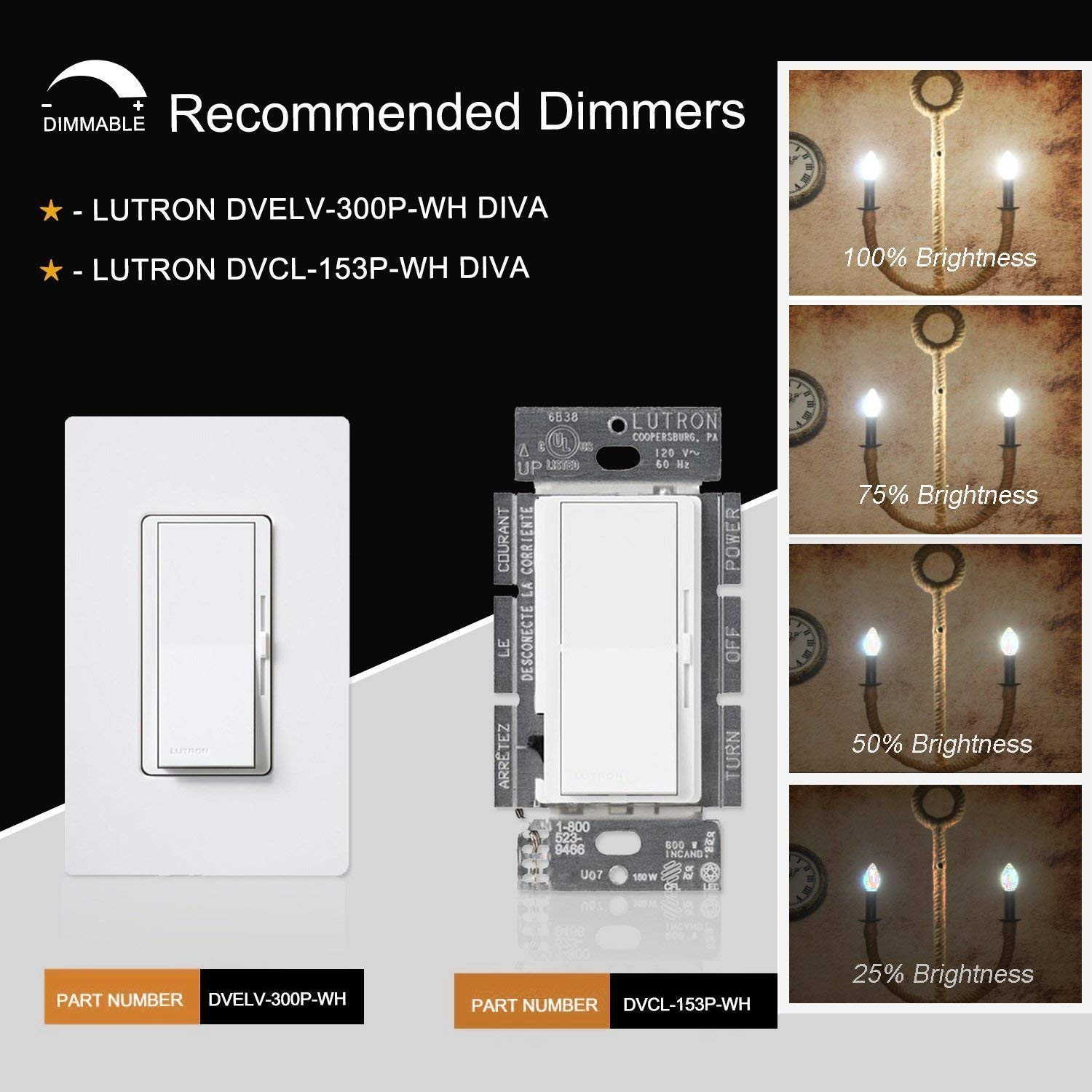 4 Pack E12 Candle Base C35 Frosted Chandelier Light Bulbs 360 Degrees Beam Angle OMAYKEY 6W Dimmable LED Candelabra Bulb 3000K Soft White 60W Equivalent 600 Lumens