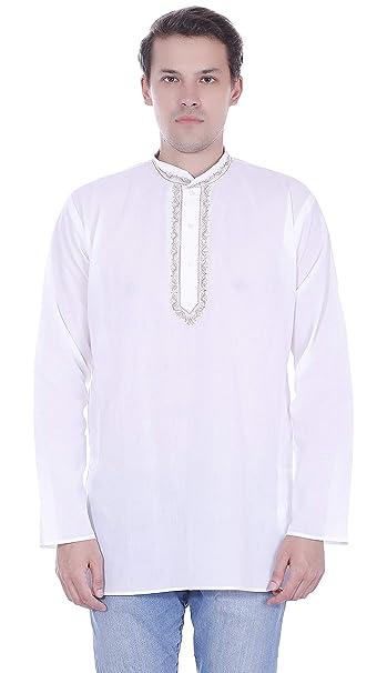 SKAVIJ Camicia Uomo Casual Kurta Button Down Manica Lunga Abito in Cotone   Amazon.it  Abbigliamento 9e2e7550cec