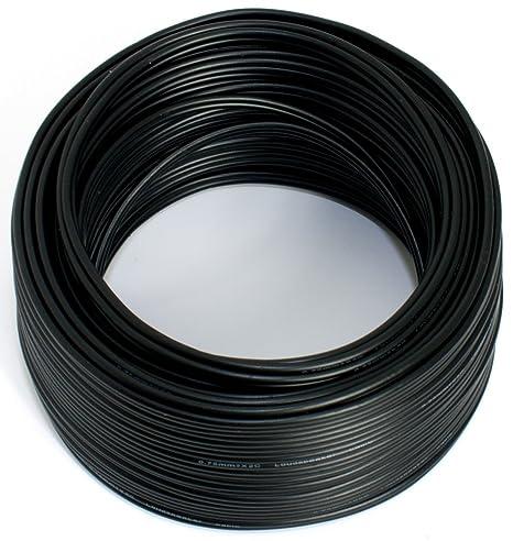 2x0,5mm² 100/% CCA Kupfer ; Audiokabel schwarz Lautsprecherkabel 10m