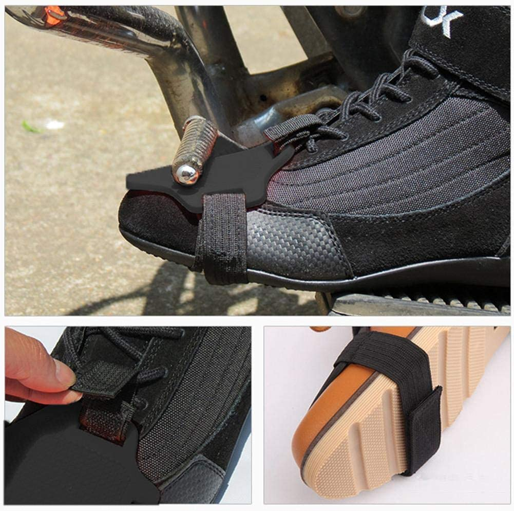 Moto Moto Shift Pad Chaussure Boot Boot Antid/érapant Silicone Chaussures Cover Protective Gear Black