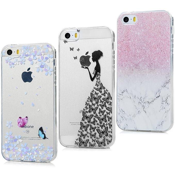 2 opinioni per 3 x iPhone 5 5S SE Custodia,ToDo Cover iPhone 5 5S SE Silicone Ultra Morbido