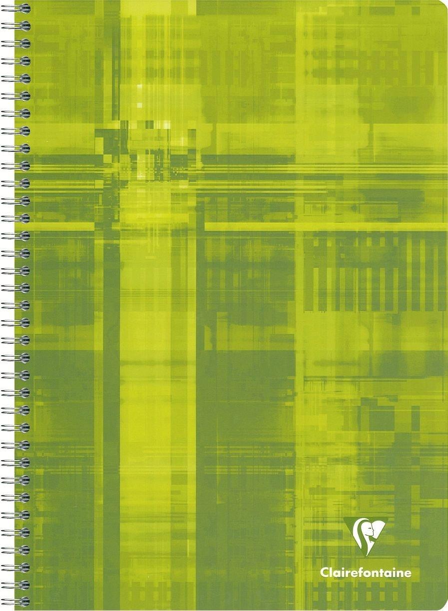 formato A4 Colori assortiti Blocco a spirale 1 pezzo fogli a righe francesi Clairefontaine