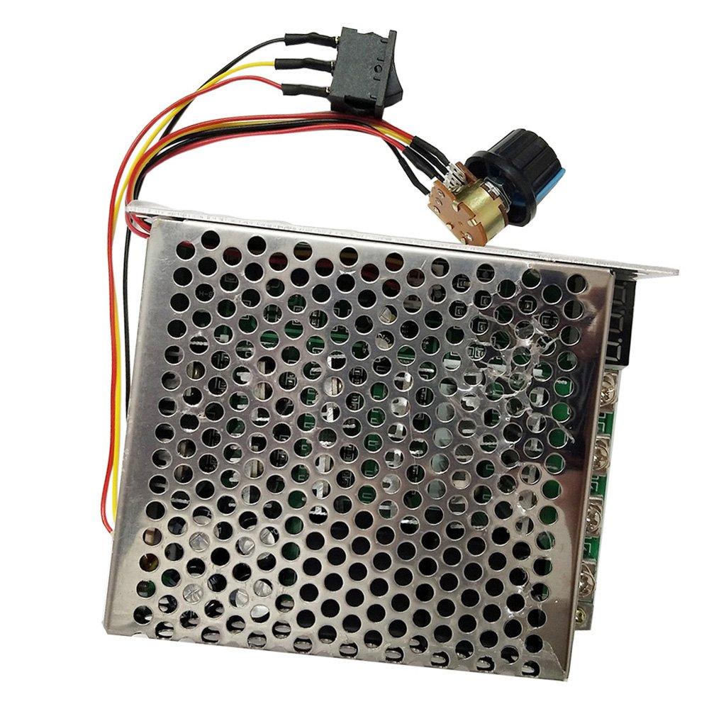 Jili Online PWM DC Motor Speed Controller CW CCW Reversible Adjustable Knob Switch