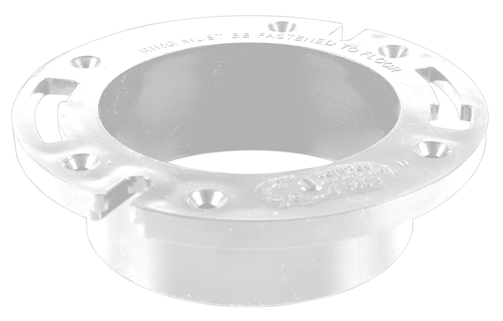 Oatey 43621 Over 4-Inch Closet Flange, PVC, without Test Cap, 4-Inch