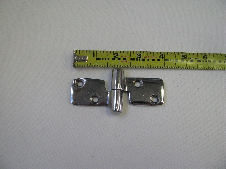 """SeaDog Marine Chrome Brass Take Apart Hinge 3 7//8/"""" x 2/"""" 204279-1 Pair"""